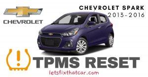 TPMS Reset-Chevrolet Spark 2013-2016 Tire Pressure Sensor