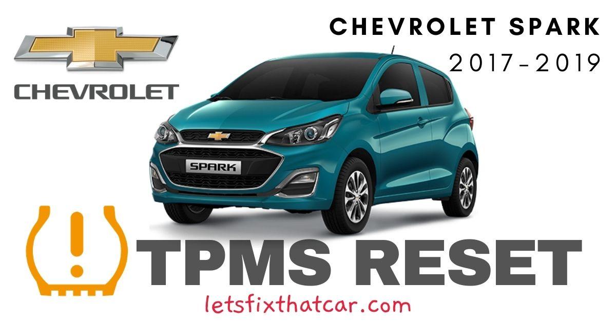 TPMS Reset-Chevrolet Spark 2017-2019 Tire Pressure Sensor