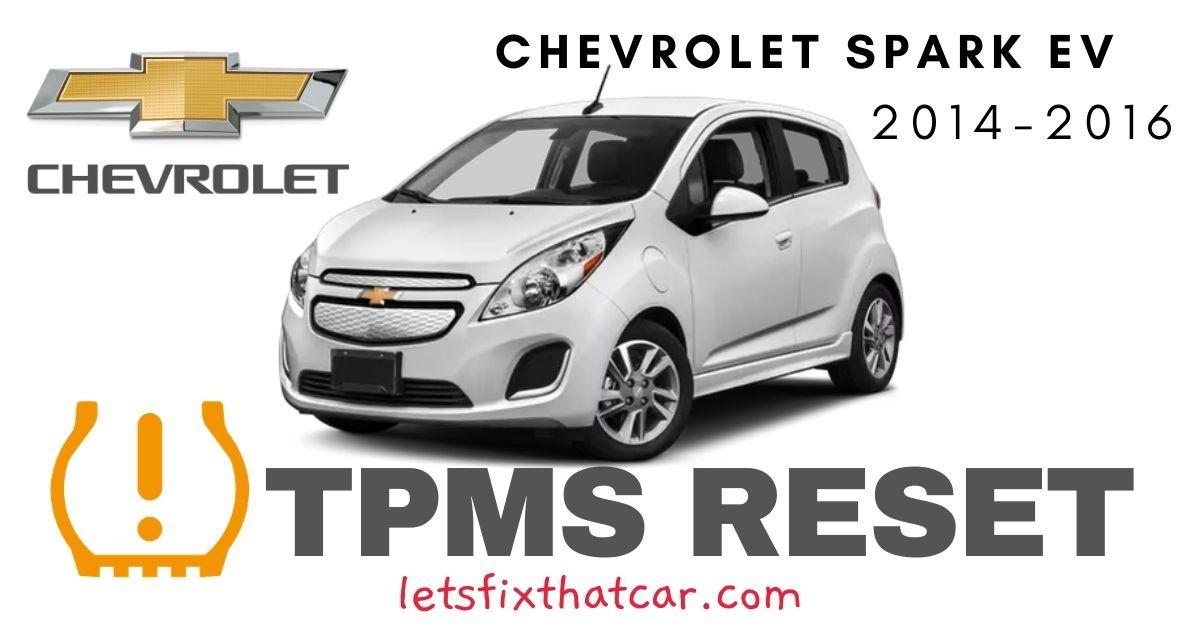 TPMS Reset-Chevrolet Spark EV 2014-2016 Tire Pressure Sensor