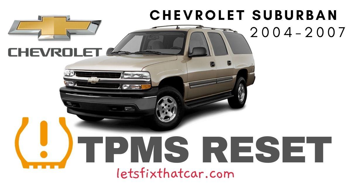 TPMS Reset-Chevrolet Suburban 2004-2007 Tire Pressure Sensor