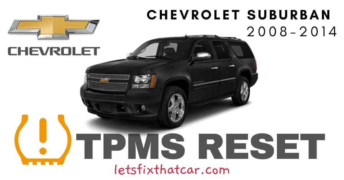 TPMS Reset-Chevrolet Suburban 2008-2014 Tire Pressure Sensor