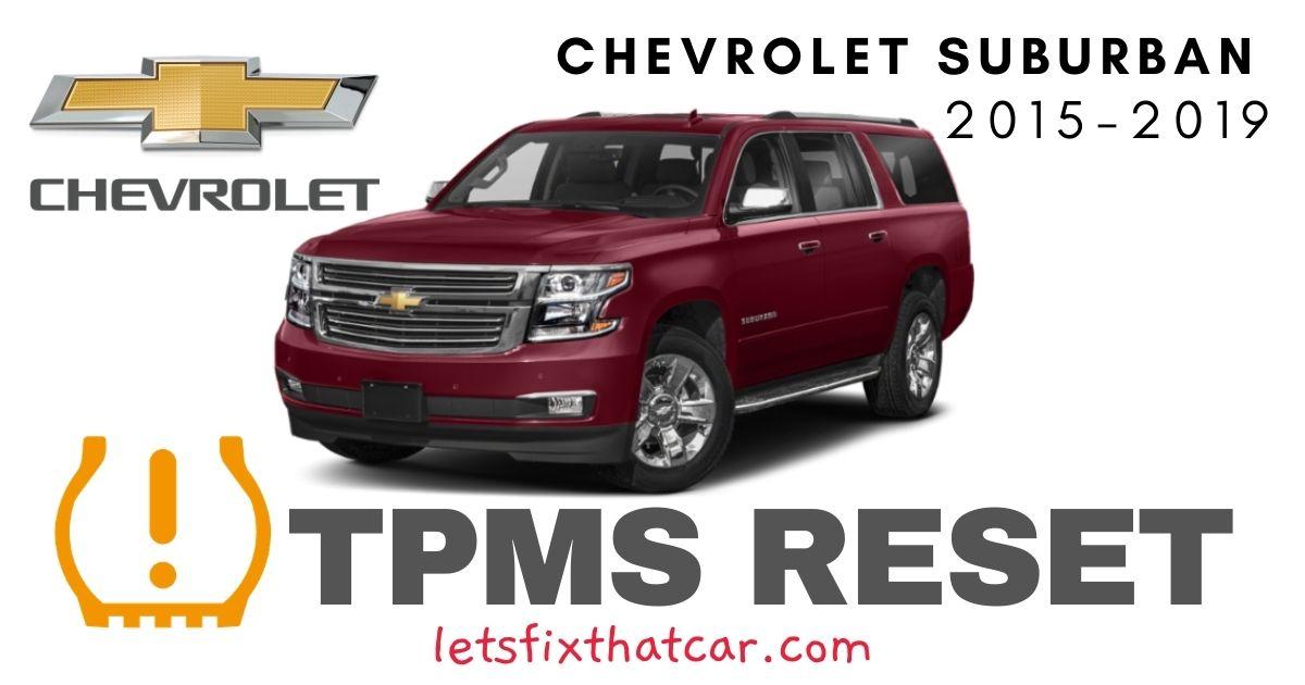 TPMS Reset-Chevrolet Suburban 2015-2019 Tire Pressure Sensor