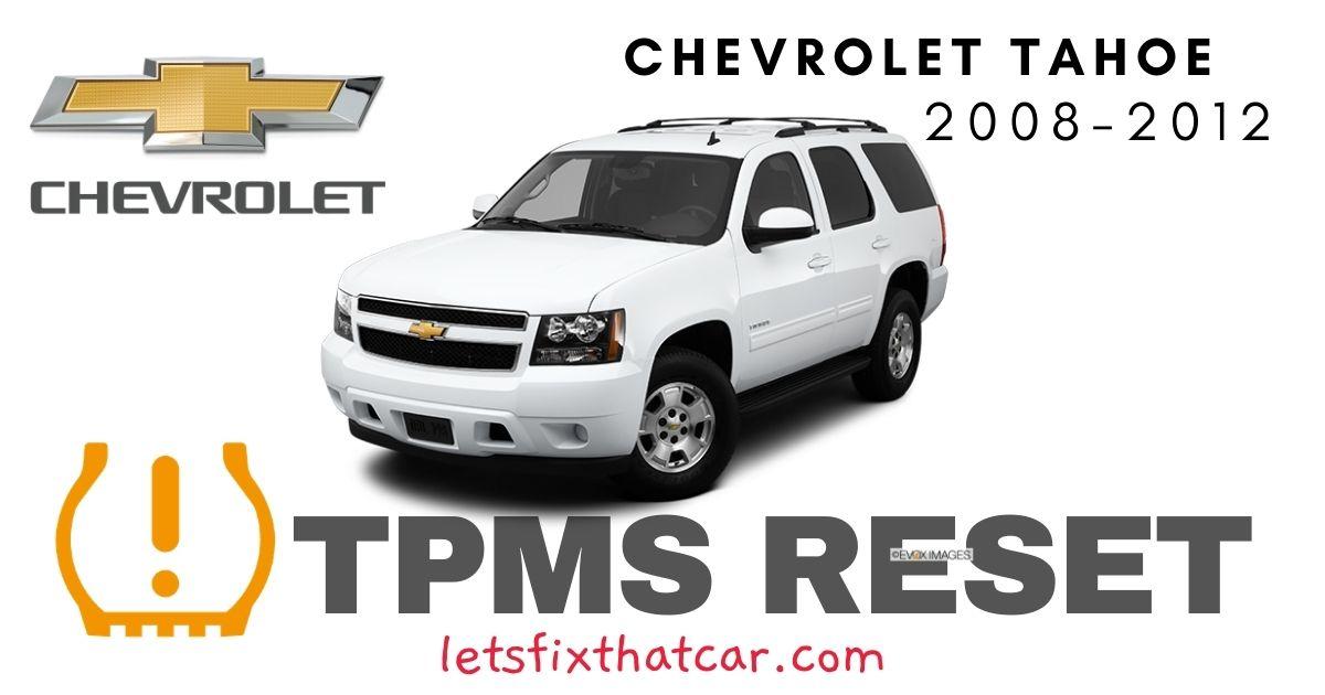 TPMS Reset-Chevrolet Tahoe 2008-2012 Tire Pressure Sensor