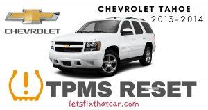 TPMS Reset-Chevrolet Tahoe 2013-2014 Tire Pressure Sensor