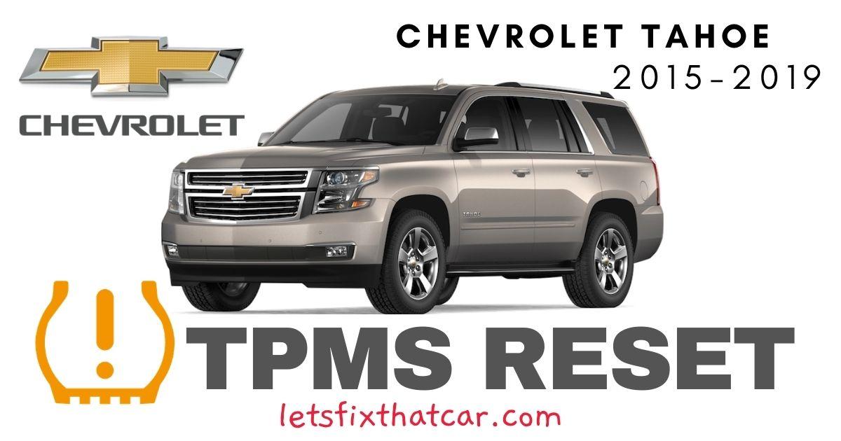 TPMS Reset-Chevrolet Tahoe 2015-2019 Tire Pressure Sensor