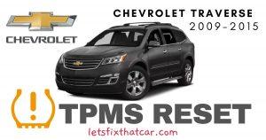 TPMS Reset-Chevrolet Traverse 2009-2015 Tire Pressure Sensor