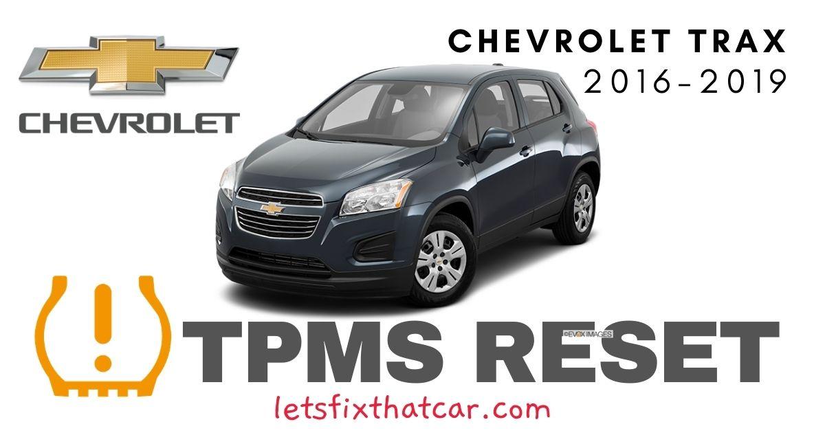 TPMS Reset-Chevrolet Trax 2016-2019 Tire Pressure Sensor
