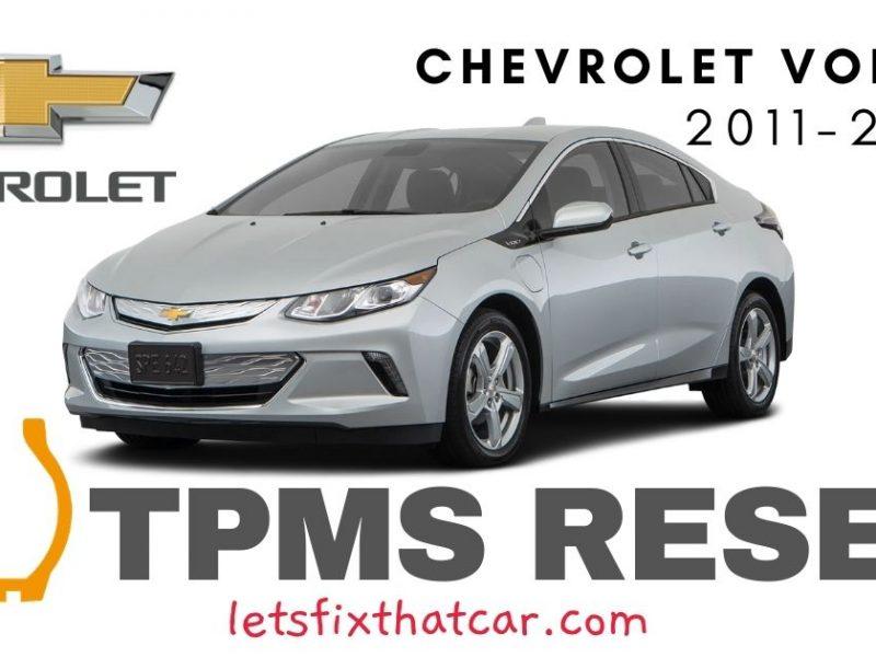 TPMS Reset-Chevrolet Volt 2011 - 2019 Tire Pressure Sensor