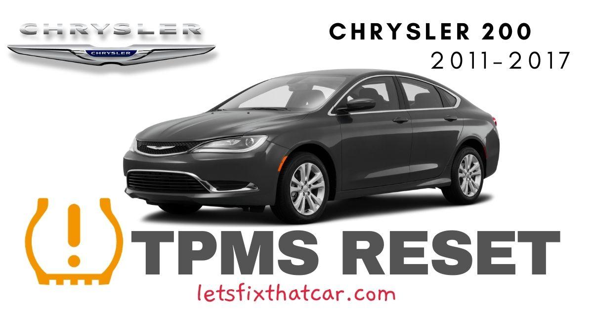 TPMS Reset-Chrysler 200 2011-2017 Tire Pressure Sensor
