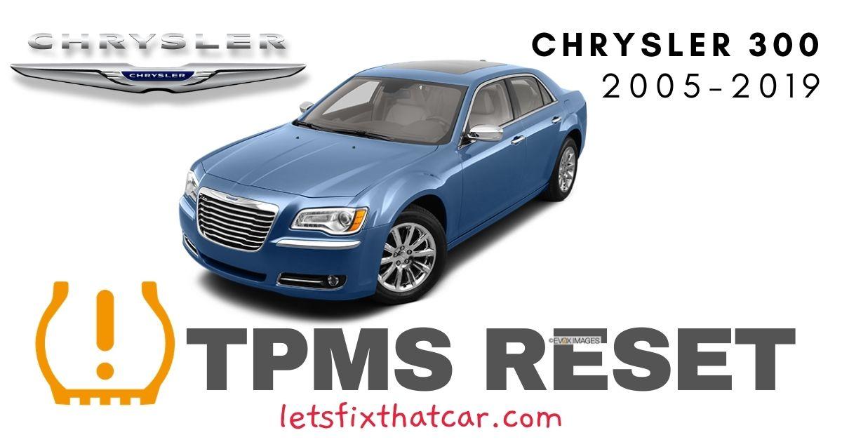 TPMS Reset-Chrysler 300 2005-2019 Tire Pressure Sensor
