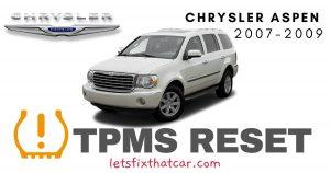 TPMS Reset-Chrysler Aspen 2007-2009 Tire Pressure Sensor