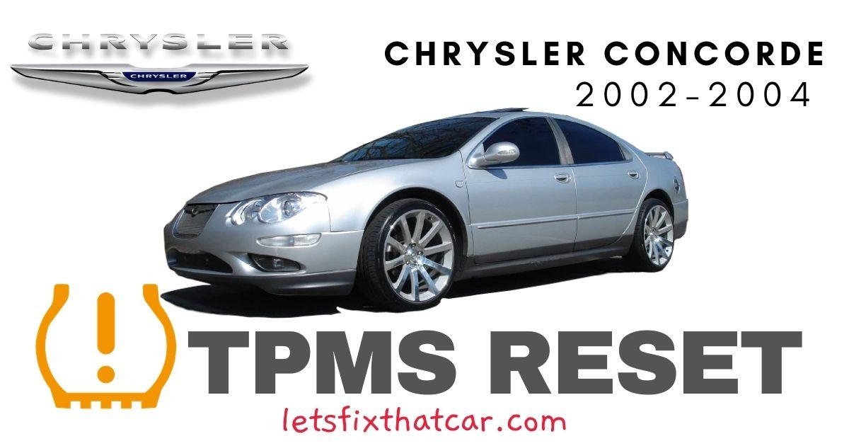TPMS Reset-Chrysler Concorde 2002-2004 Tire Pressure Sensor