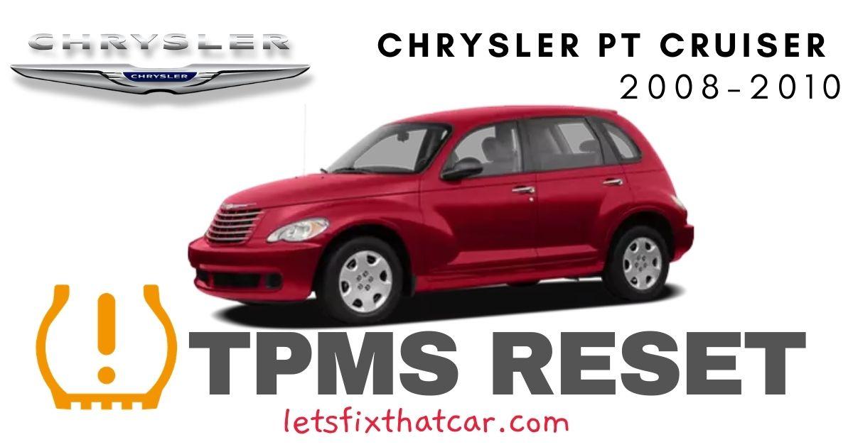 TPMS Reset- Chrysler PT Cruiser 2008-2010 Tire Pressure Sensor
