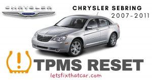 TPMS Reset-Chrysler Sebring 2007-2011 Tire Pressure Sensor