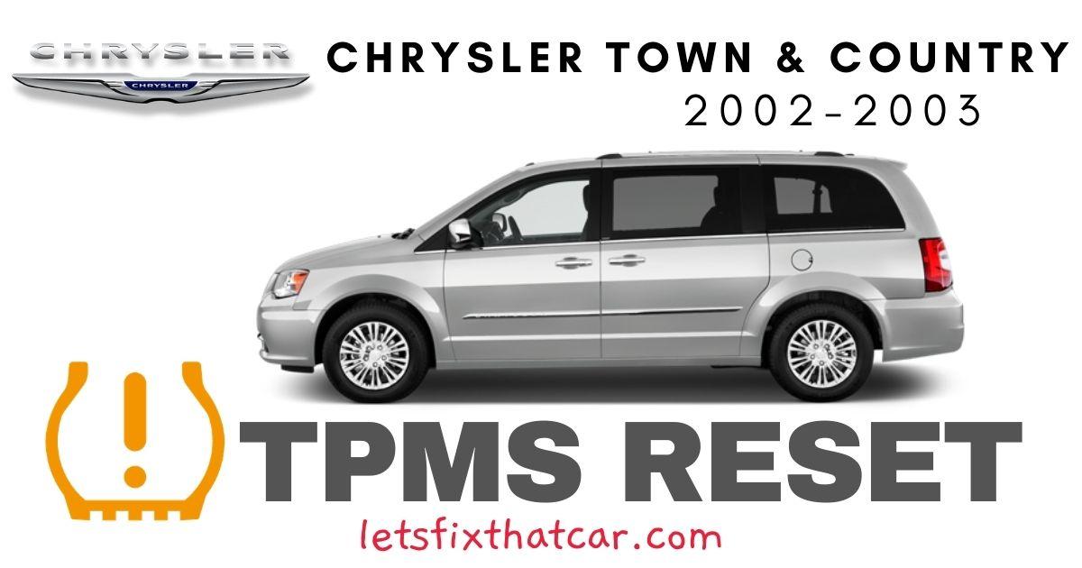TPMS Reset-Chrysler Town & Country 2002-2003 Tire Pressure Sensor