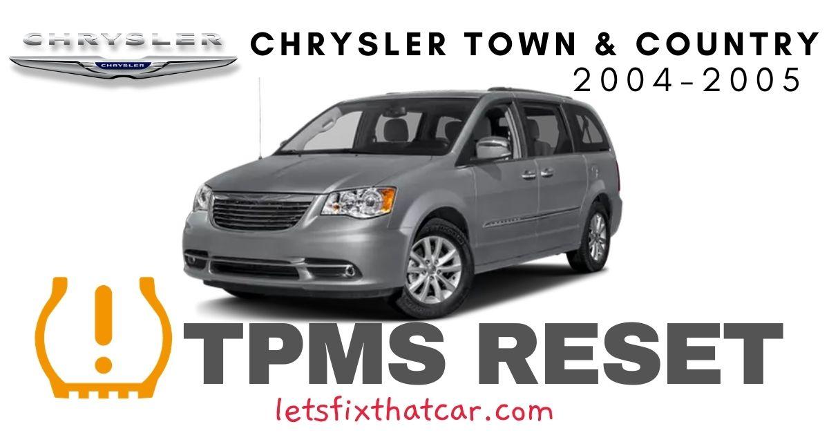 TPMS Reset-Chrysler Town & Country 2004-2005 Tire Pressure Sensor
