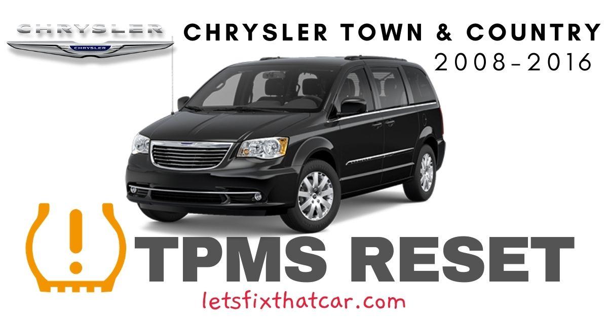 TPMS Reset-Chrysler Town & Country 2008-2016 Tire Pressure Sensor