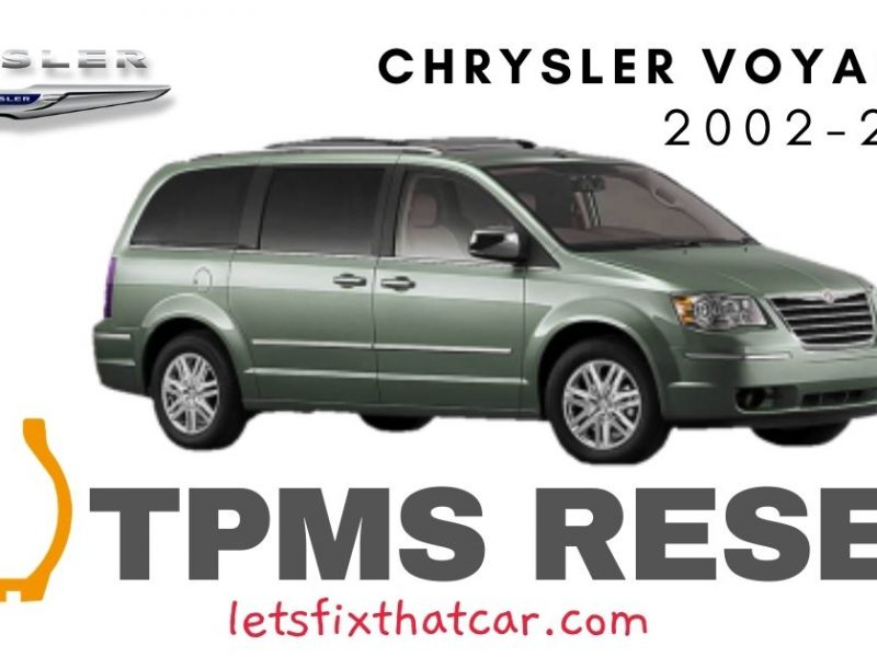 TPMS Reset-Chrysler Voyager 2002-2003 Tire Pressure Sensor