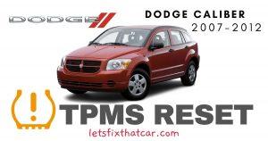 TPMS Reset-Dodge Caliber 2007-2012 Tire Pressure Sensor