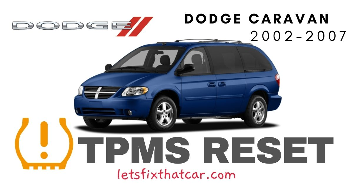 TPMS Reset-Dodge Caravan 2002-2007 Tire Pressure Sensor