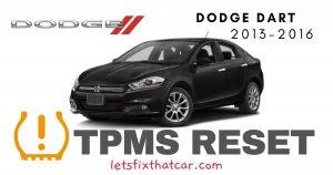 TPMS Reset-Dodge Dart 2013-2016 Tire Pressure Sensor