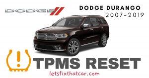 TPMS Reset-Dodge Durango 2007-2019 Tire Pressure Sensor