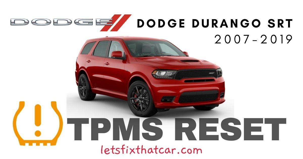 TPMS Reset-Dodge Durango SRT 2018-2019 Tire Pressure Sensor