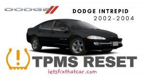 TPMS Reset-Dodge Intrepid 2002-2004 Tire Pressure Sensor