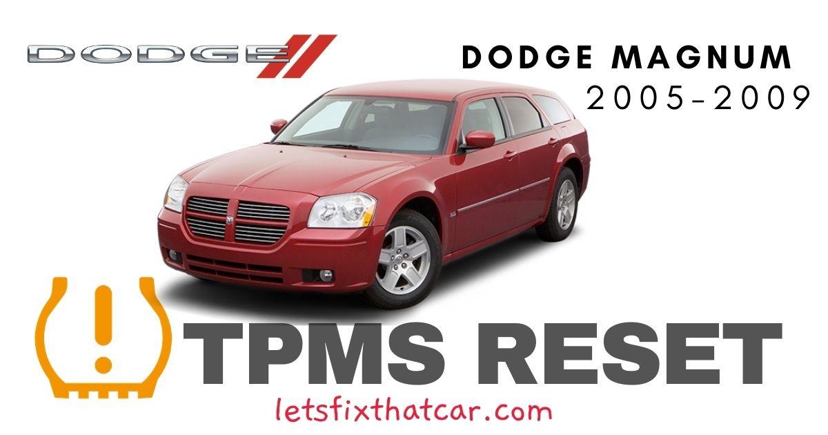 TPMS Reset-Dodge Magnum 2005-2009 Tire Pressure Sensor