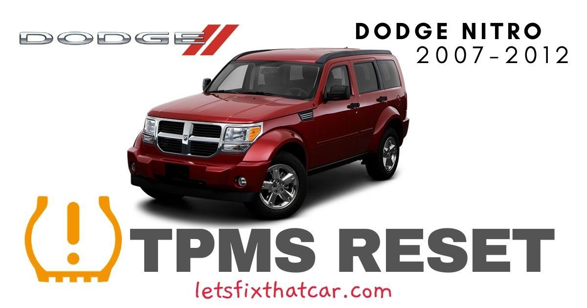 TPMS Reset-Dodge Nitro 2007-2012 Tire Pressure Sensor