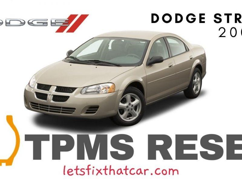 TPMS Reset-Dodge Stratus 2007 Tire Pressure Sensor