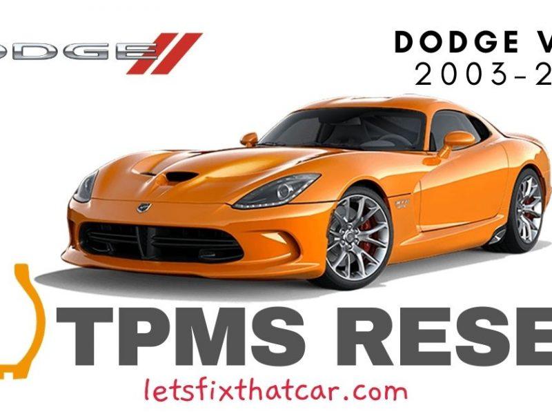 TPMS Reset-Dodge Viper 2003-2016 Tire Pressure Sensor