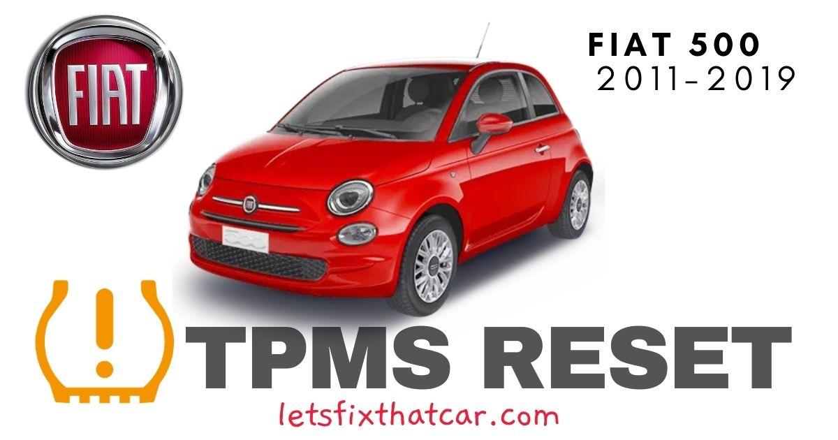 TPMS Reset-Fiat 500 2011-2019 Tire Pressure Sensor