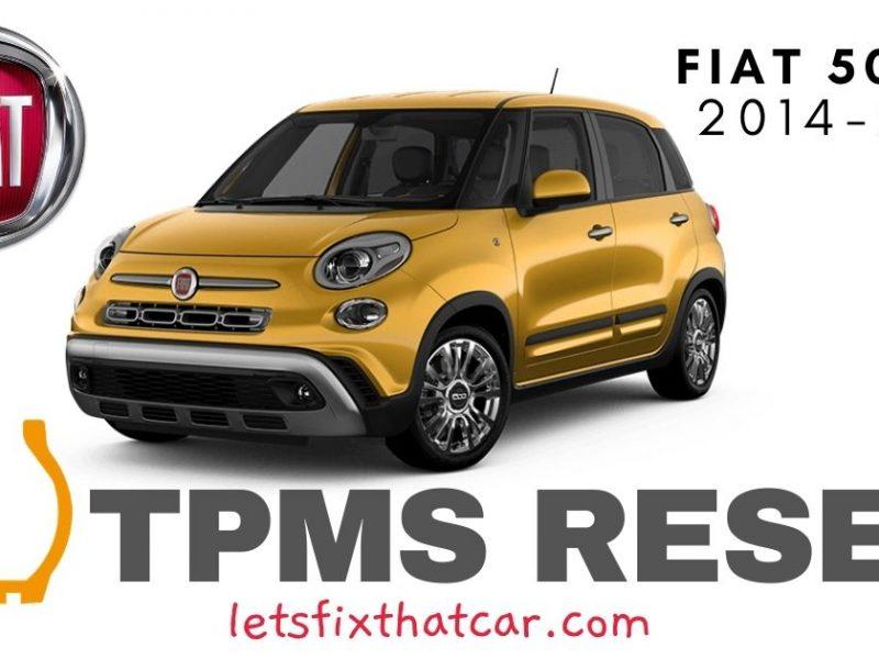 TPMS Reset-Fiat 500L 2014-2019 Tire Pressure Sensor