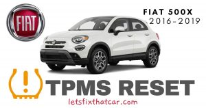 TPMS Reset-Fiat 500X 2016-2019 Tire Pressure Sensor