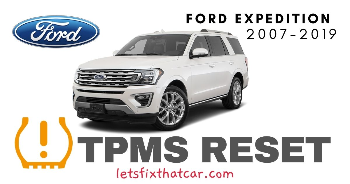 TPMS Reset-Ford Expedition 2007-2019 Tire Pressure Sensor