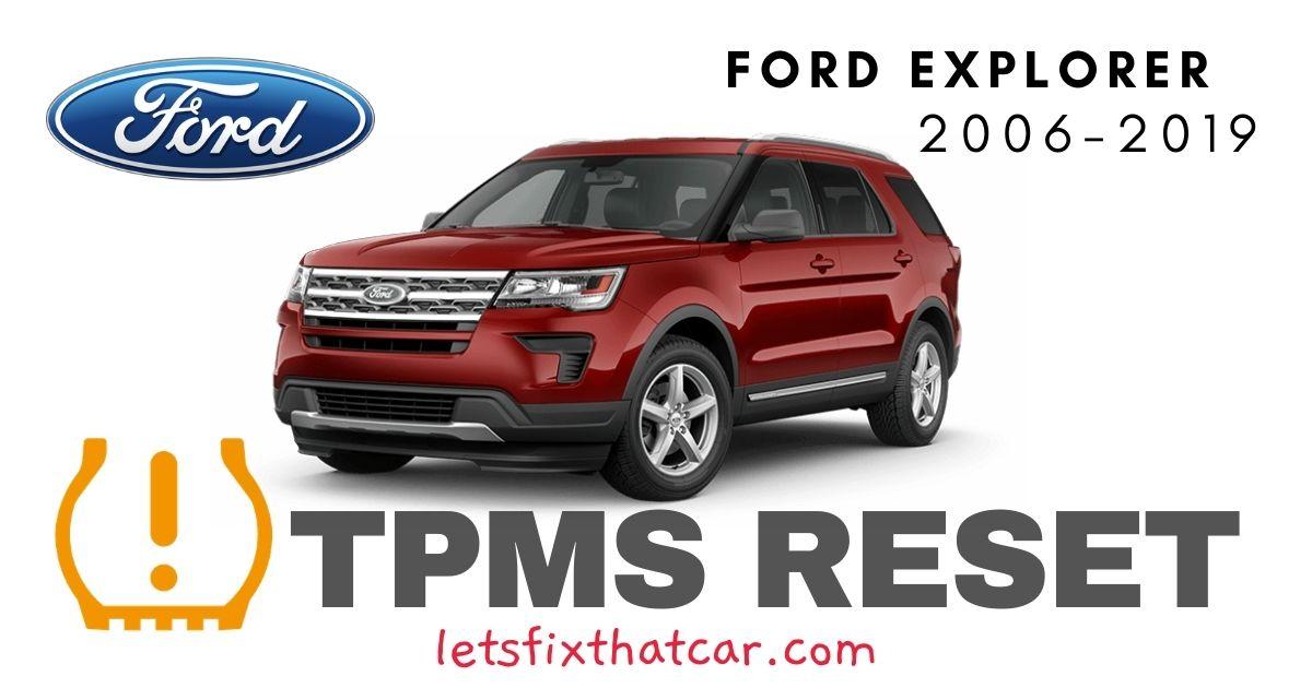 TPMS Reset-Ford Explorer 2006-2019 Tire Pressure Sensor