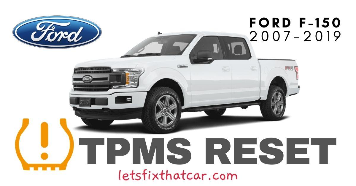TPMS Reset-Ford F-150 2007-2019 Tire Pressure Sensor