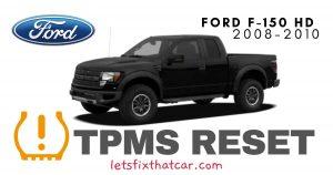 TPMS Reset-Ford F-150 HD 2008-2010 Tire Pressure Sensor