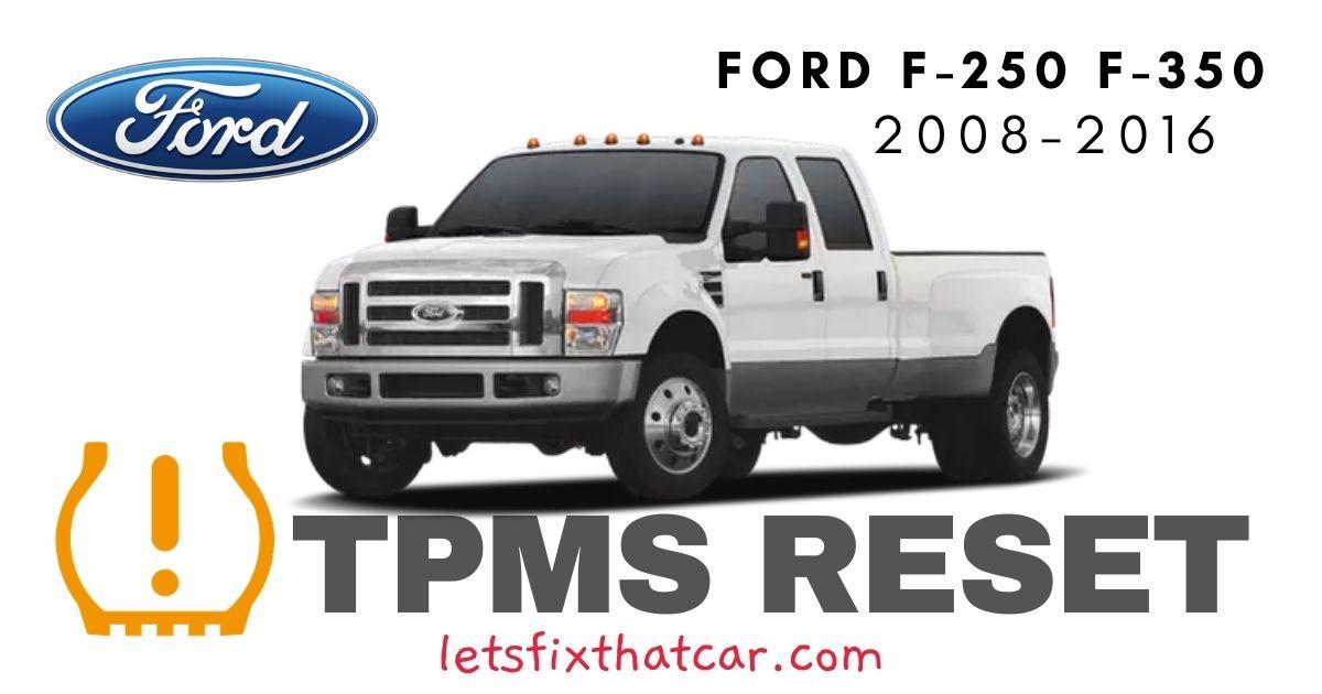 TPMS Reset-Ford F-250 F-350 2008-2016 Tire Pressure Sensor
