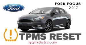TPMS Reset-Ford Focus 2017 Tire Pressure Sensor