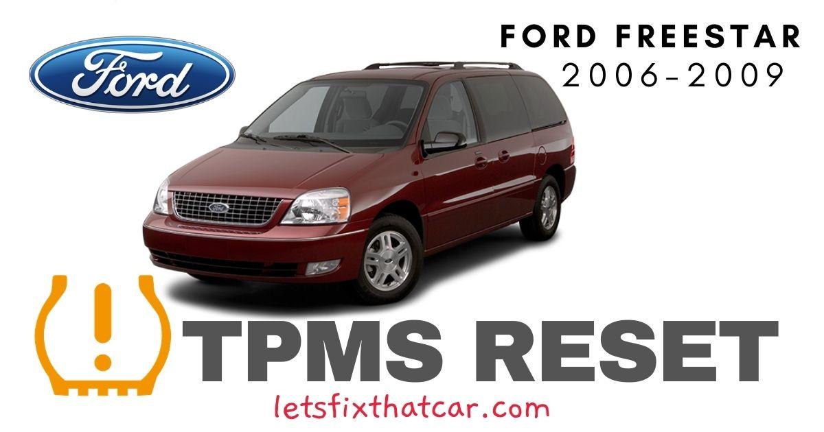 TPMS Reset-Ford Freestar 2006-2009 Tire Pressure Sensor