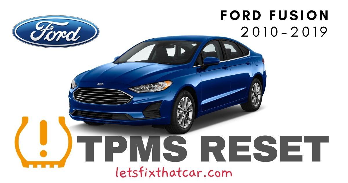 TPMS Reset-Ford Fusion 2010-2019 Tire Pressure Sensor