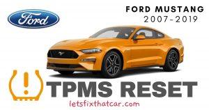 TPMS Reset-Ford Mustang 2007-2019 Tire Pressure Sensor