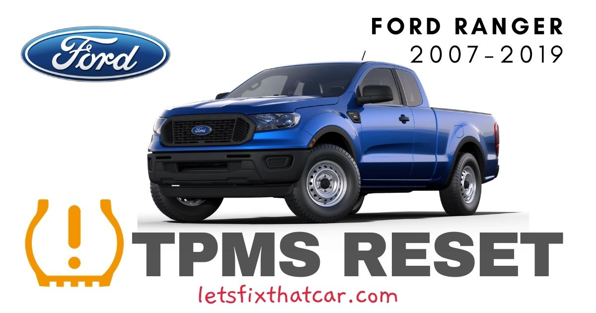 TPMS Reset-Ford Ranger 2007-2019 Tire Pressure Sensor