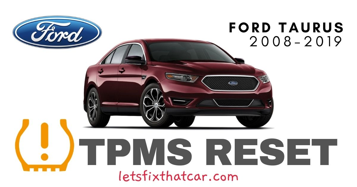 TPMS Reset-Ford Taurus 2008-2019 Tire Pressure Sensor