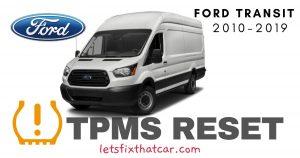 TPMS Reset-Ford Transit 2010-2019 Tire Pressure Sensor