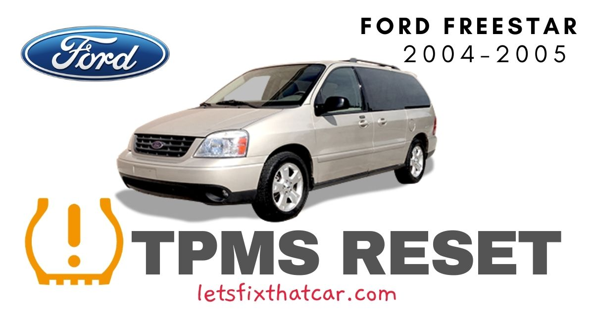 TPMS Reset-Freestar 2004-2005 Tire Pressure Sensor