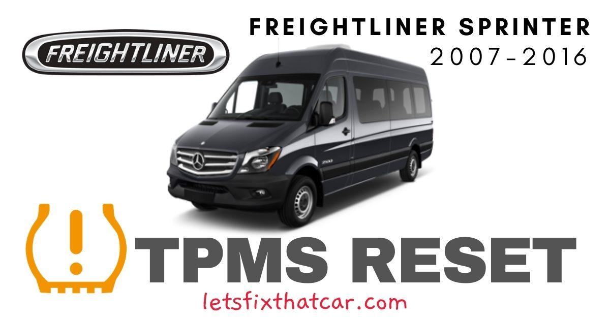 TPMS Reset-Freightliner Sprinter 2007-2016 Tire Pressure Sensor