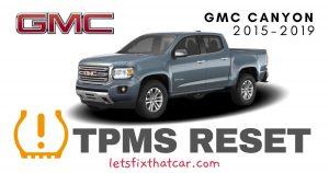 TPMS Reset-GMC Canyon 2015-2019 Tire Pressure Sensor